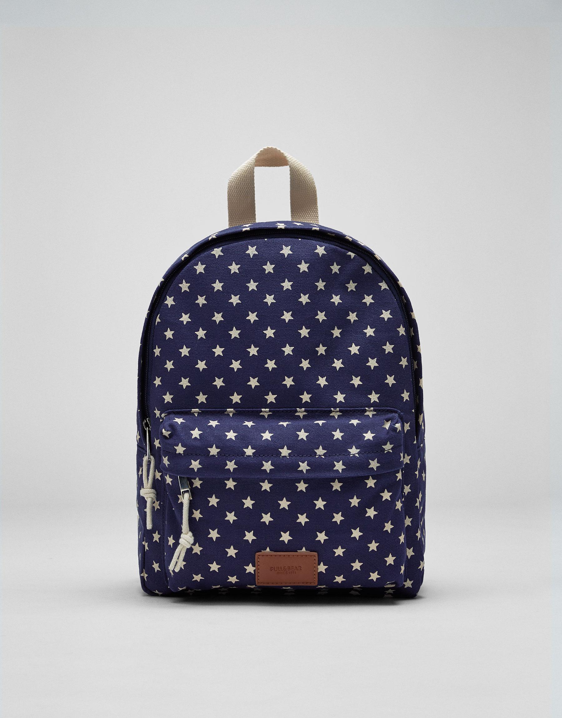 Mini mochila estrellas