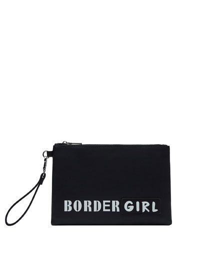 Slogan toiletry bag