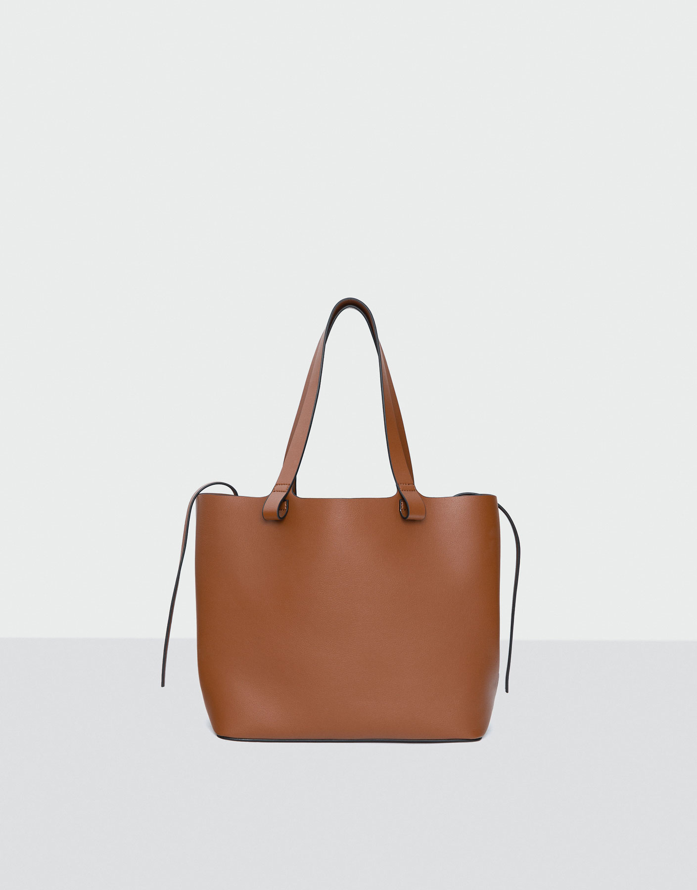 Sac shopper basic couleur camel