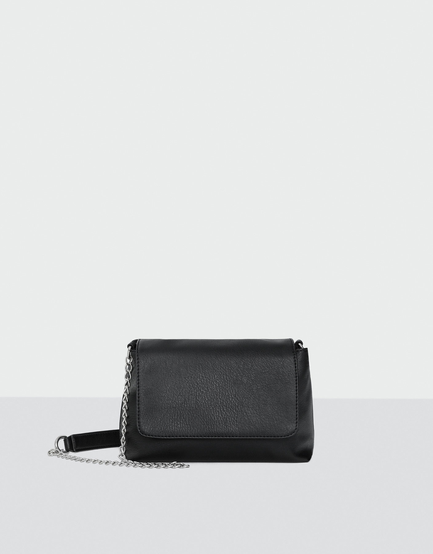 Basic black crossbody bag