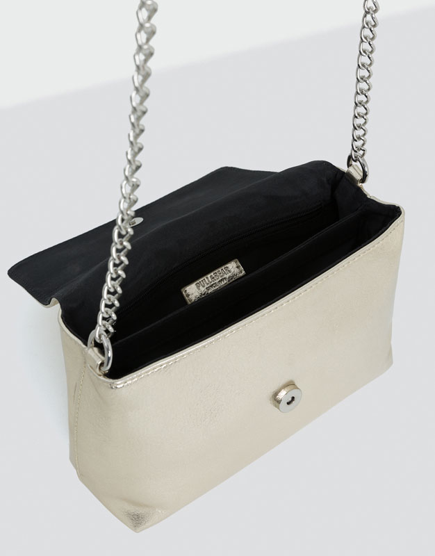 Basic silver crossbody bag