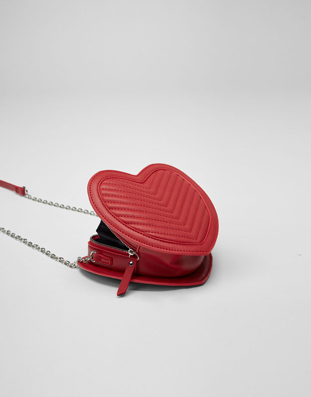 Mini heart crossbody bag