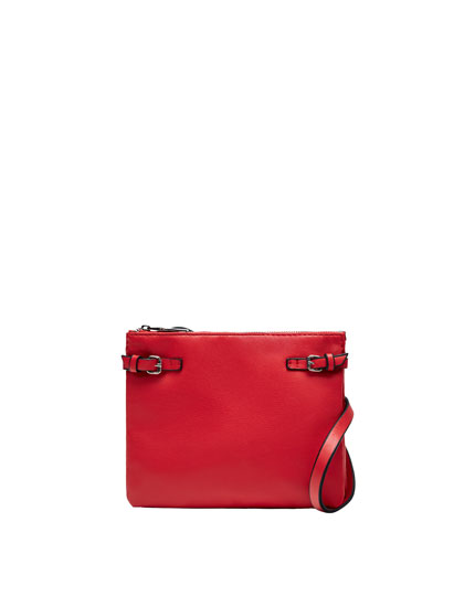 Mini crossbody bag with buckle detail
