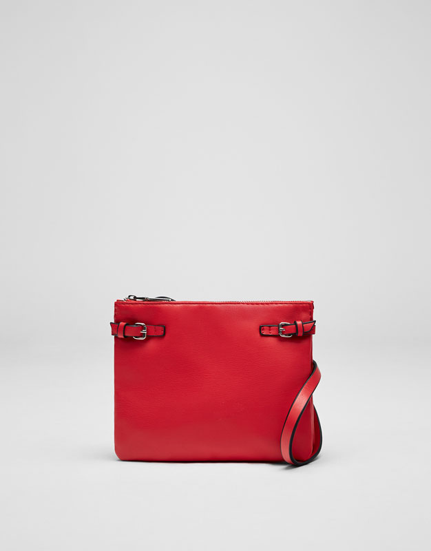 Mini crossbody bag with buckle detail