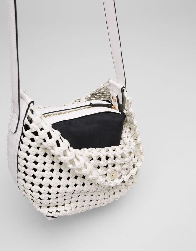 Plaited crossbody bag