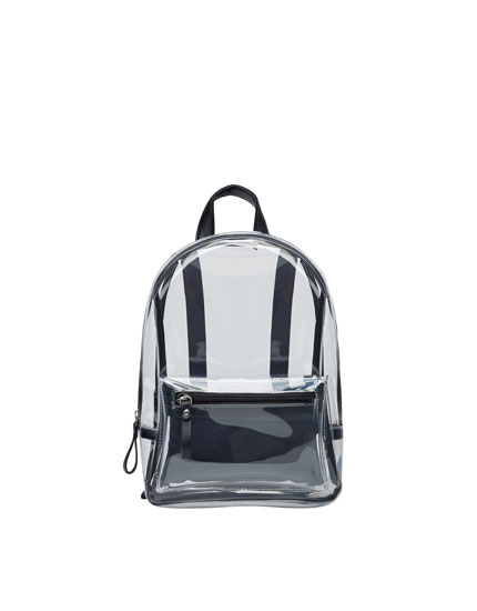 Mini vinyl backpack