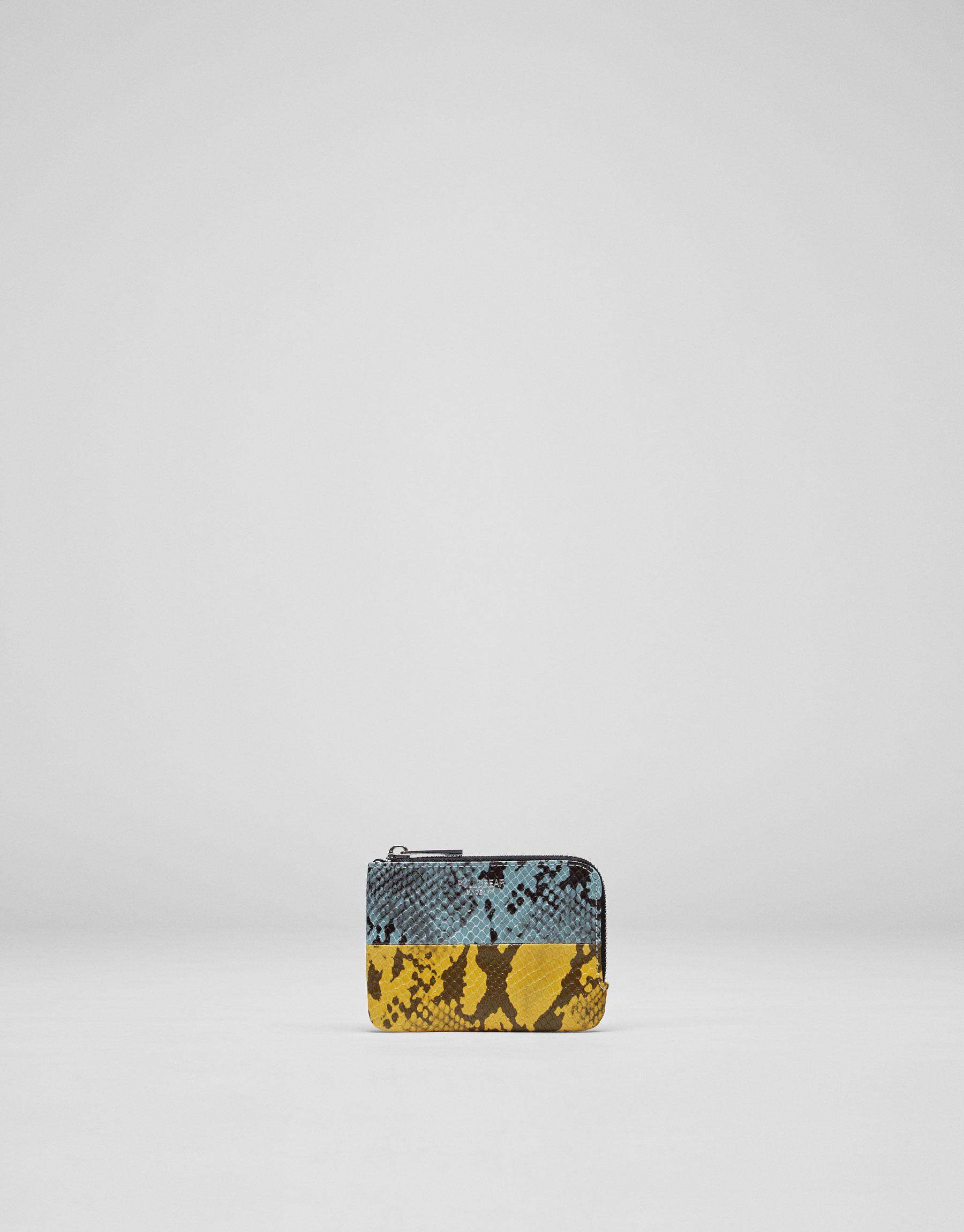 Animal print coin purse