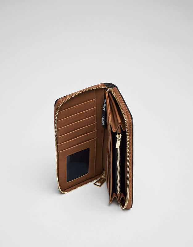 Brown insect detail wallet