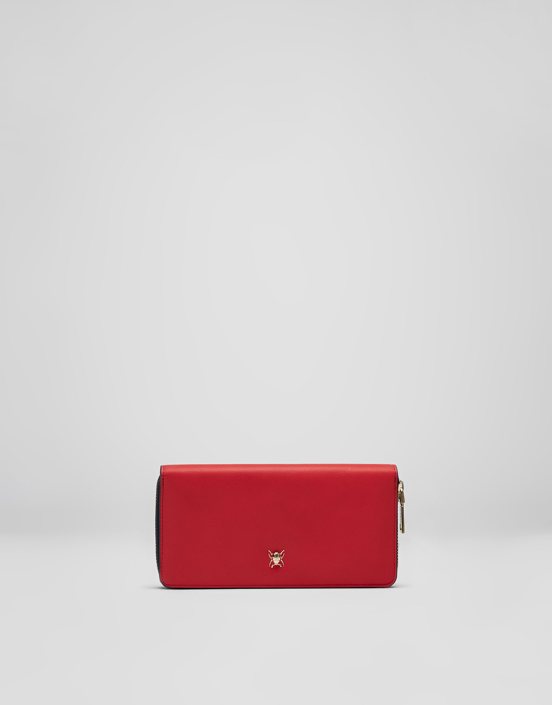 Red insect detail wallet