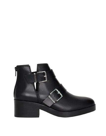 Openwork ankle boots