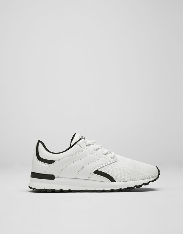 Black and white sneakers