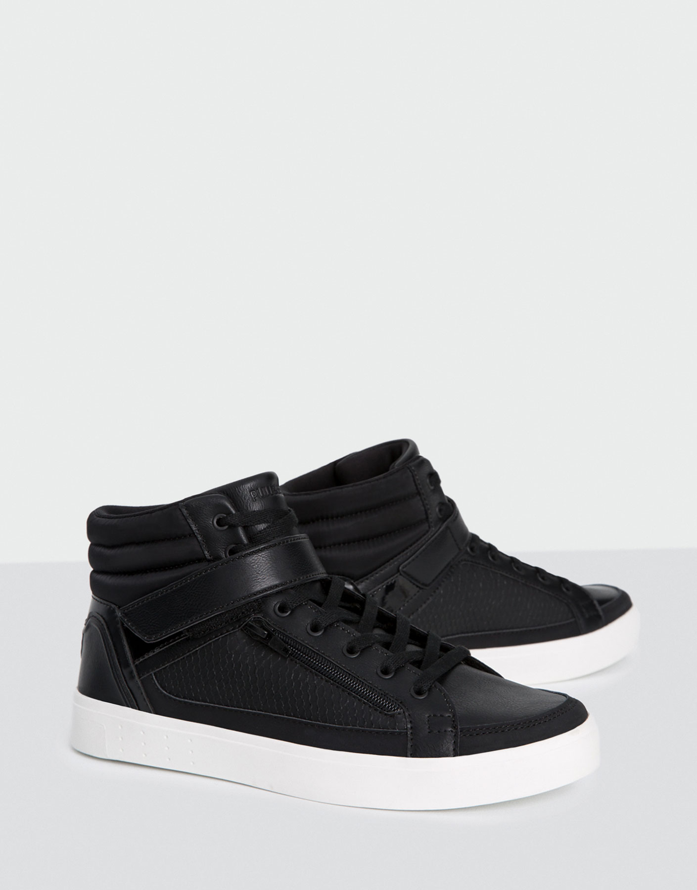 High-top sneakers with embossed detail