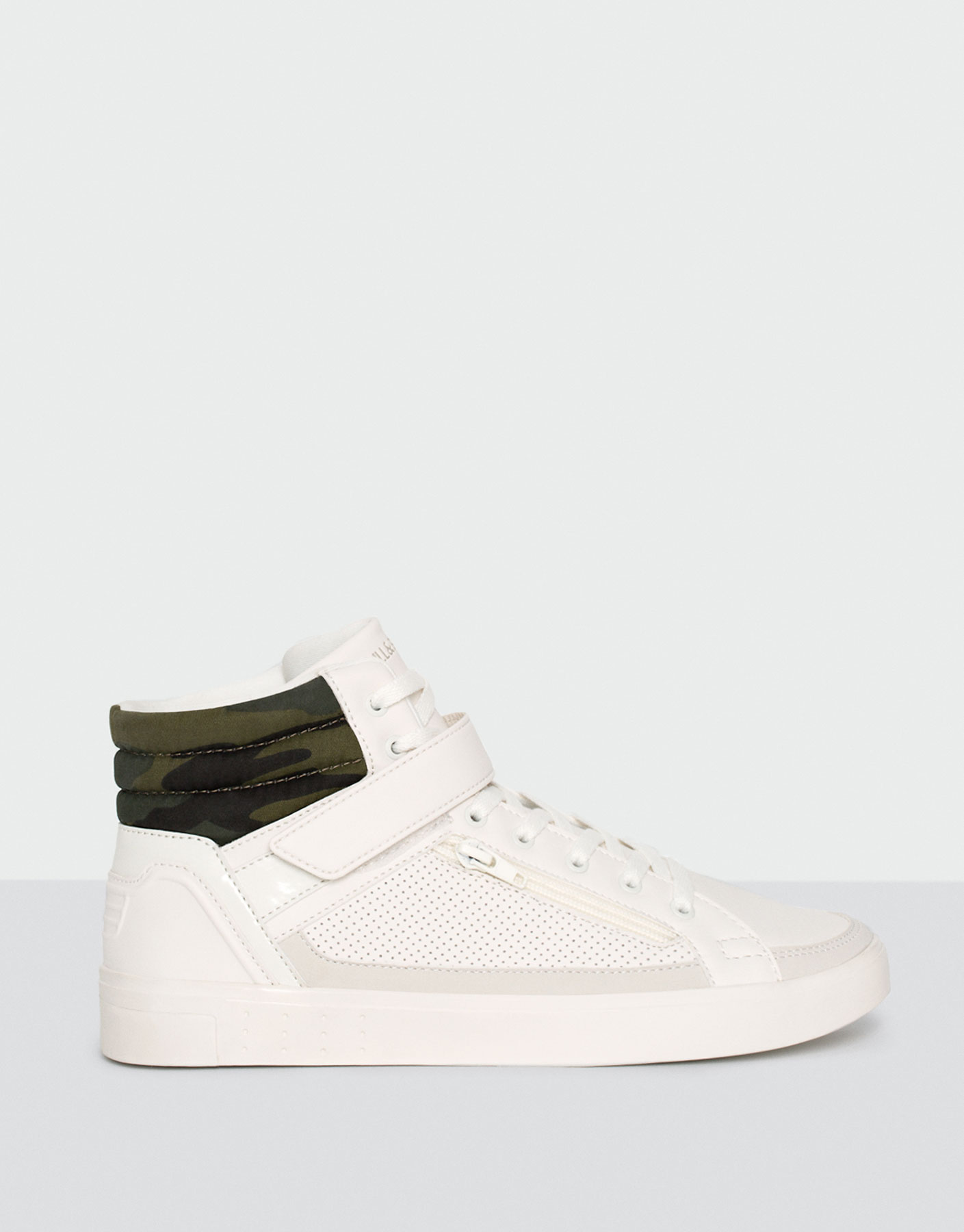 High-top sneakers with camouflage detail