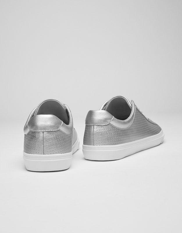 Silver plimsolls