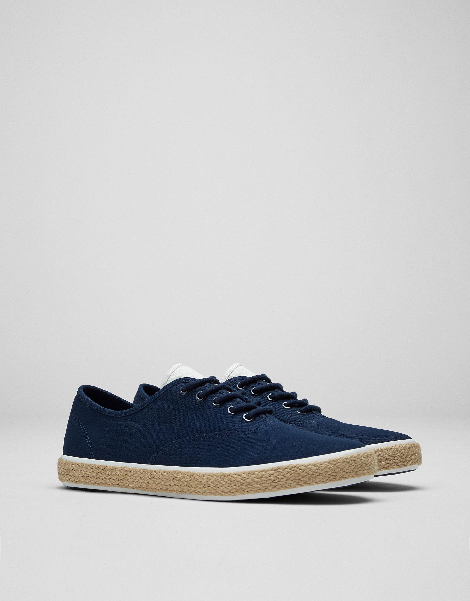Tennis jute bleues - Dernières nouveautés - Chaussures - Homme - PULL&BEAR France