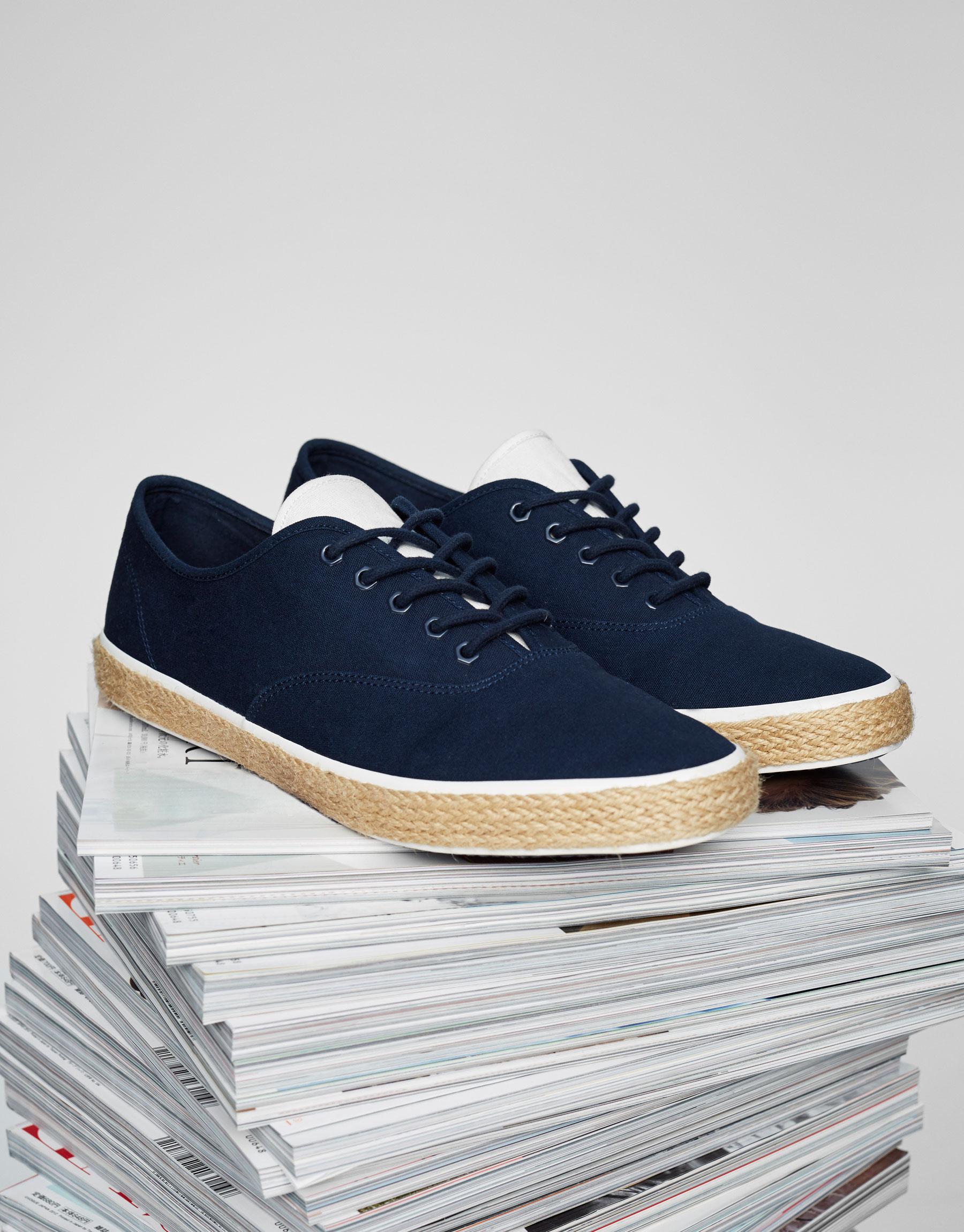 Blue jute sneakers