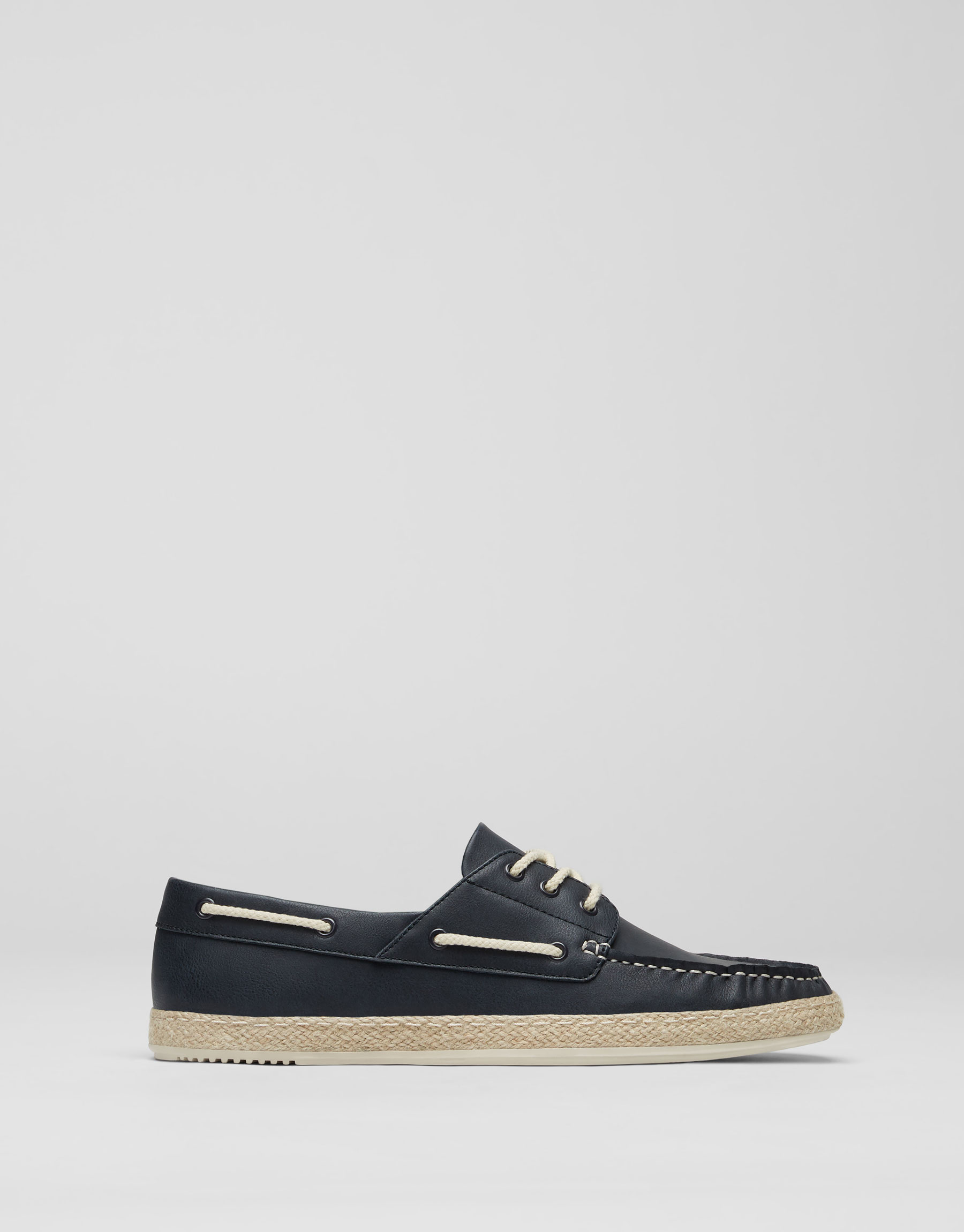 Blue jute docksiders
