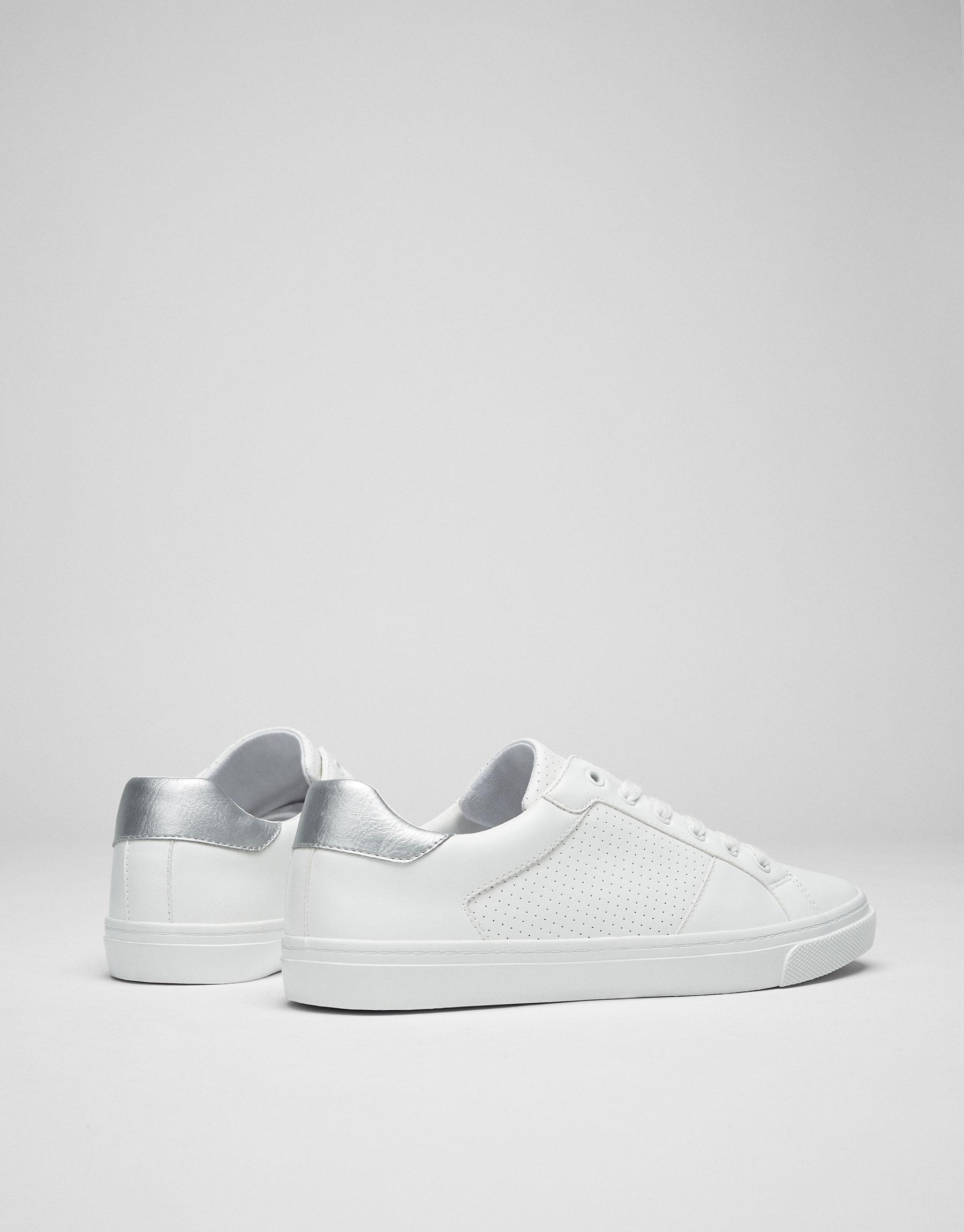 Silver heel plimsolls