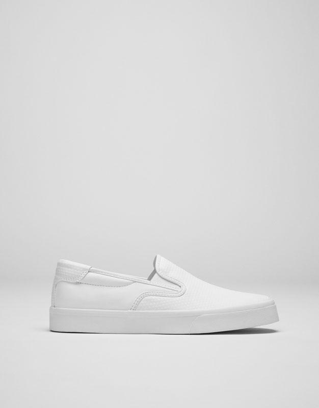 Zapatilla elástica blanca