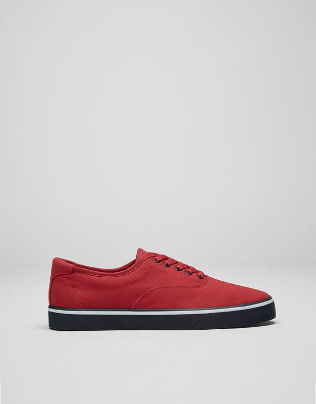 Red plimsolls