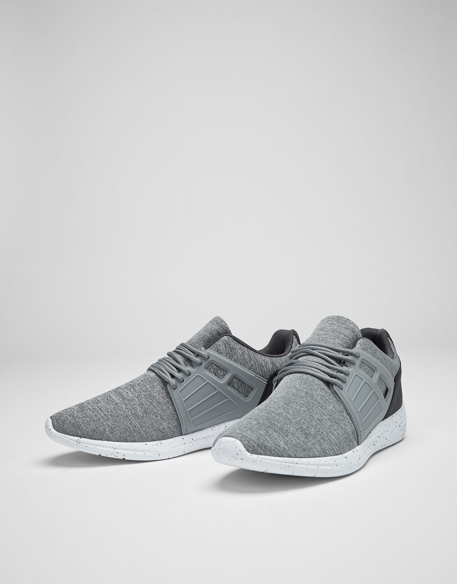 Sneakers with grey piece
