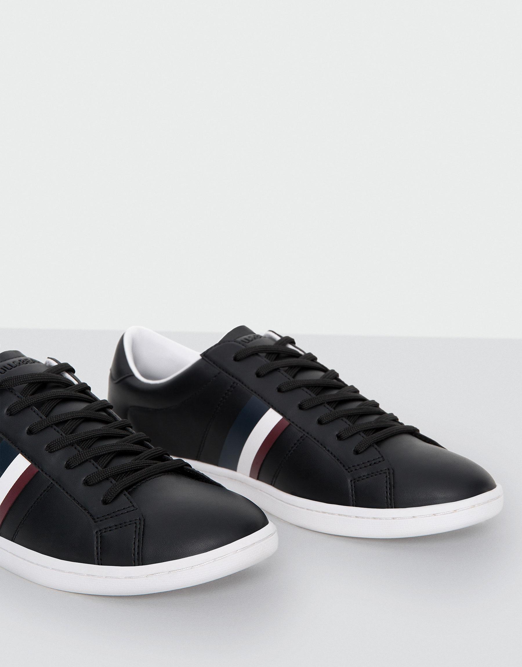 Semi-sneaker met streep