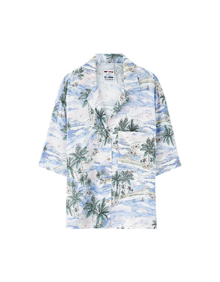 Pantín Classic palm tree Hawaiian shirt