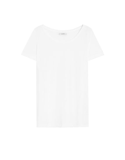T-shirt basic col arrondi