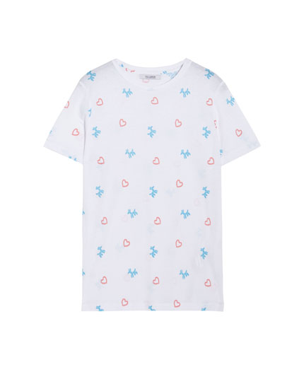 Short sleeve balloon T-shirt