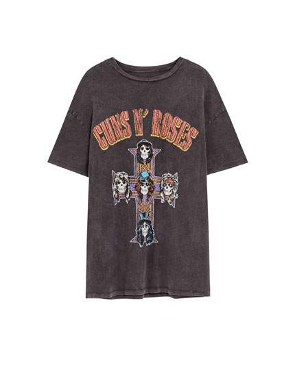 T-shirt Guns N' Roses têtes de mort