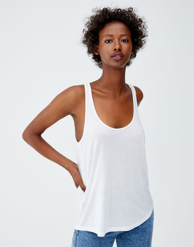 Pull & Bear - Basic oversized top with straps - 1