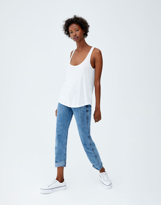 Pull & Bear - Basic oversized top with straps - 2