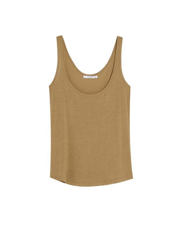 Pull & Bear - Basic oversized top with straps - 6