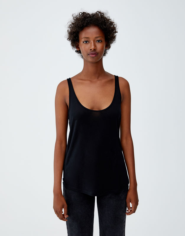 Pull & Bear - Basic oversized top with straps - 5