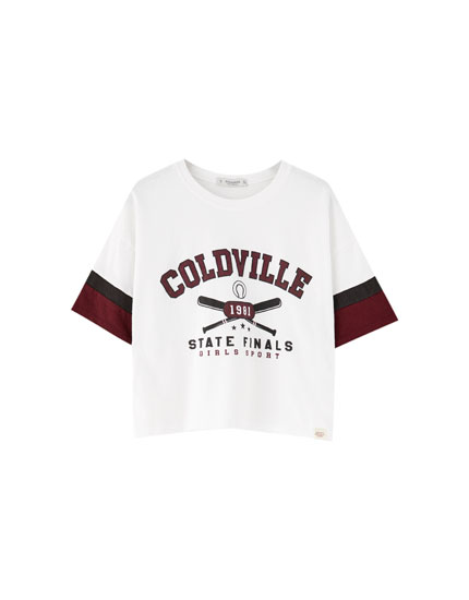 Varsity T-shirt with raglan sleeves