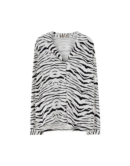 Camisa estampado cebra