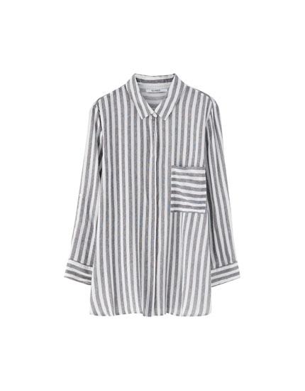 Camisa básica print rayas