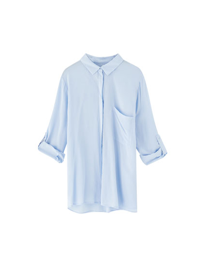 Basic shirt with 3/4 sleeves