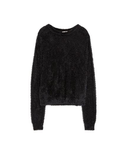 Furry black sweater