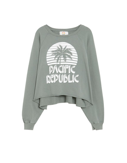 Sudadera cropped Pacific Republic