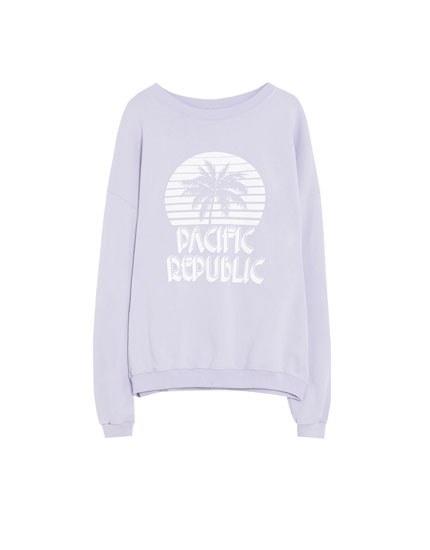 "Lila Sweatshirt ""Pacific Republic"""