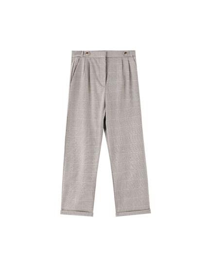 Spodnie tailoring z zakładkami