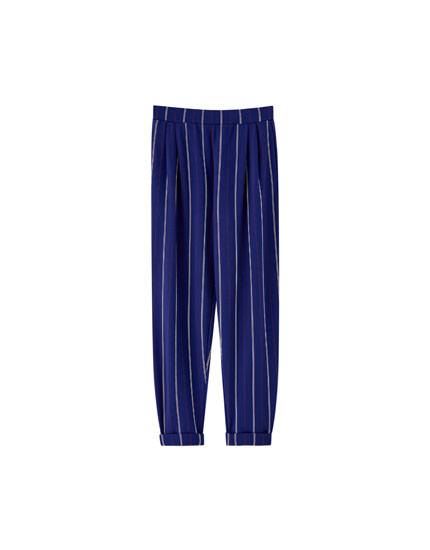 Tailored pinstripe trousers
