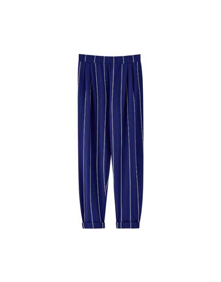 Spodnie tailoring w prążki