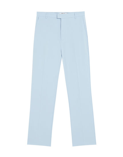 Blue tailored trousers