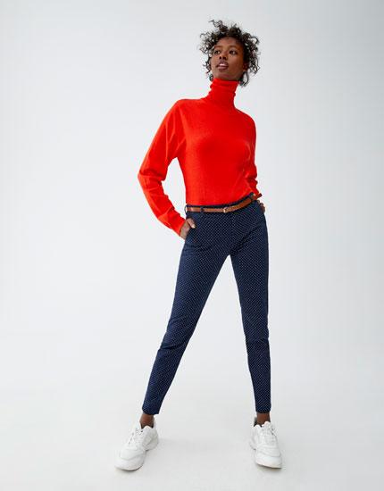 Pantalón chino algodón con cinturón