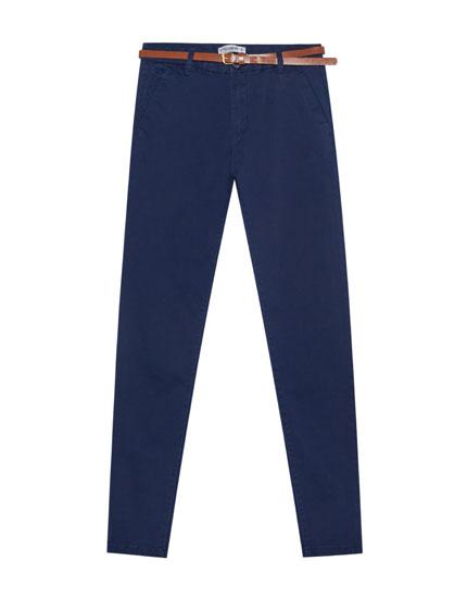 Παντελόνι chino basic με ζώνη