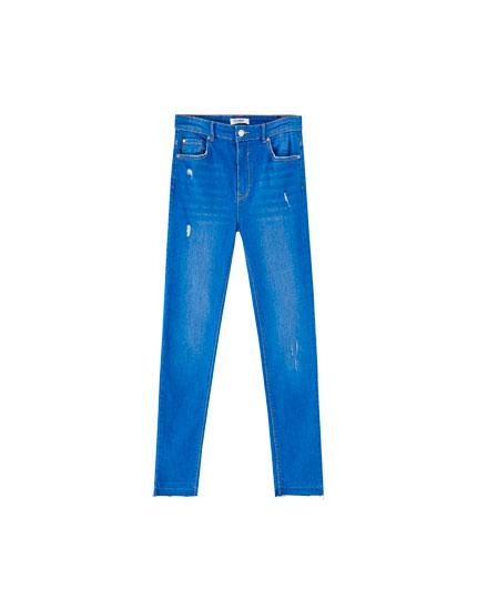 Jeans skinny de tiro alto