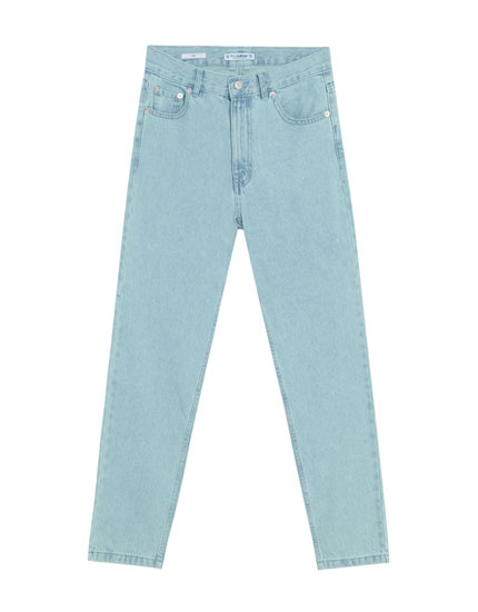 Faded mom fit jeans