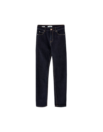 High-waist slim fit jeans